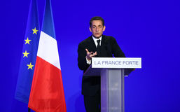 French president's Nicolas Sarkozy Stock Photography