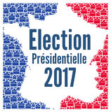 French presidential election 2017. With french map royalty free illustration