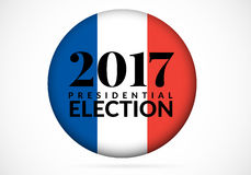 French presidential election 2017 Vector illustration. French presidential election 2017. Vector illustration Isolated on white background Stock Image
