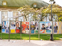 French Presidential Electoral Campaign Posters vandalized Royalty Free Stock Photos