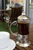 French press.... Morning coffee in the restaurant Stock Photos
