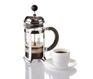 French Press Coffee Royalty Free Stock Photography