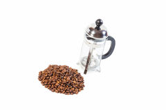 French press and coffee Royalty Free Stock Photos