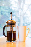 French Press Coffee Stock Photo