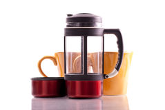 French Press Coffee Brewer Royalty Free Stock Photos