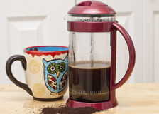 French Press Coffee Royalty Free Stock Image