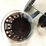 French press coffee. Made coffee by yourself Stock Photo