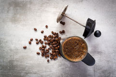 French press coffee maker Royalty Free Stock Photography
