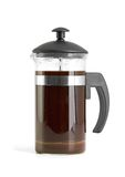 French press coffee maker on white background Stock Photos