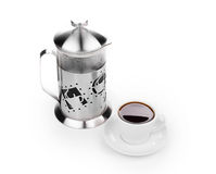 French press coffee maker Stock Photos