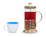 French press for making coffee and tea Stock Photo