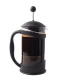 French press pot coffee maker isolated Stock Images