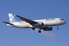 French Private Airbus A320 landing Stock Images