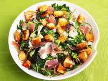 French Provencal Salad. With green salad, bacon and blue cheese royalty free stock images