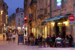 French Pub in Besancon Stock Images