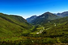 Landscape of French Pyrenees Stock Photo