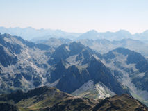 French Pyrenees mountains range Royalty Free Stock Photography