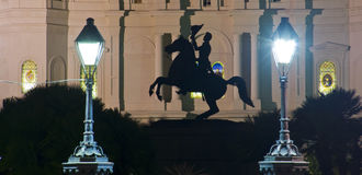 French Quarter. St.Louis Cathedral in the French Quarter New Orleans stock photography