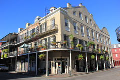 French Quarter Architecture. A building in the French Quarter of New Orleans Royalty Free Stock Images