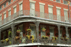 French Quarter architecture Stock Photos