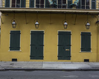 French Quarter Business Facade - Closed. A business/store in the French Quarter of New Orleans in Louisiana Royalty Free Stock Image