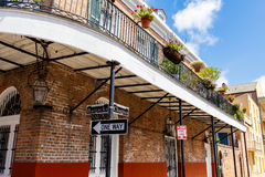 French Quarter Cityscape Royalty Free Stock Images
