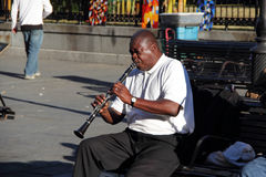 French Quarter Jazz Musician Royalty Free Stock Photography