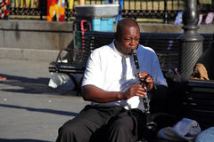 French Quarter Jazz Musician Stock Photo