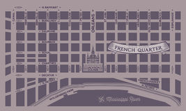 French Quarter Map Stock Image
