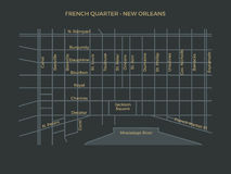 French Quarter Map Stock Images