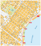 French Quarter map, New Orleans Stock Photos