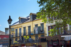 The French Quarter New Orleans a Louisiana city on the Mississippi River, near the Gulf of Mexico. Royalty Free Stock Image