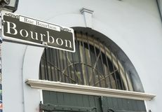 Bourbon Street Famous Downtown French Quarter New Orleans Stock Photo