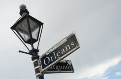Orleans Street Famous Downtown French Quarter Louisiana Stock Image