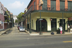 French Quarter of New Orleans, Louisiana, with morning light on red brick buildings Stock Photo