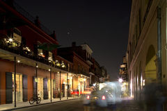 The French Quarter of  New Orleans at night Stock Photo