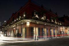 The French Quarter of  New Orleans at night Stock Photography