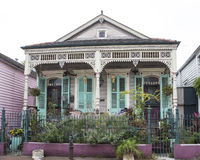 French Quarter Residence. A home in the French Quarter of New Orleans in Louisiana Stock Photo