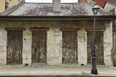 French Quarter Weathered Shutters Royalty Free Stock Image