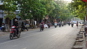 French quarters in Hanoi. Street view from the French quarters of Hanoi, Vietnam Stock Image