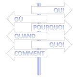 French question words Stock Photo