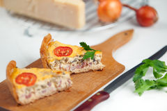 French Quiche Lorraine Stock Photo