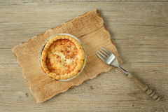 French quiche lorraine with bacon Royalty Free Stock Photo