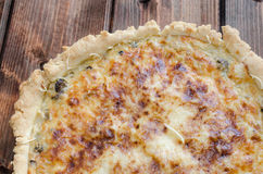 French quiche with onion, leek and mushrooms Stock Photography