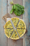 French quiche pie with spinach Royalty Free Stock Photography