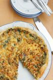 French quiche with spinach stock photo