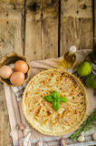 French quiche stuffed cheese and pears Royalty Free Stock Image