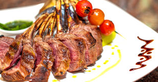 French Rack of Lamb Grilled Stock Images