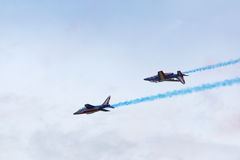 The french Red Arrows Royalty Free Stock Photos