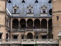 French Renaissance style castle located in Golucho stock photography
